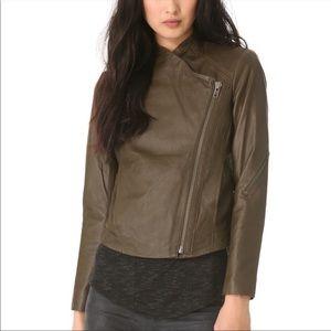 Olive Green Helmut Lang Leather Jacket, large
